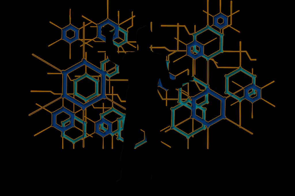 hexagon, blockchain, man-6574882.jpg